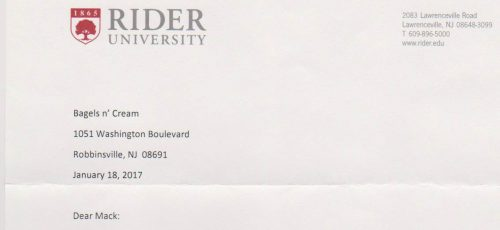 Rider University Thank You Image